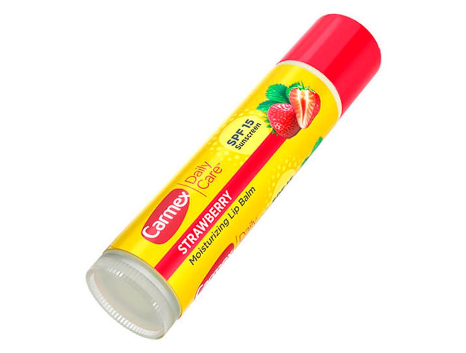 Бальзам для губ Клубника Carmex Strawberry Stick SPF 15, 4,25г - Фото №3