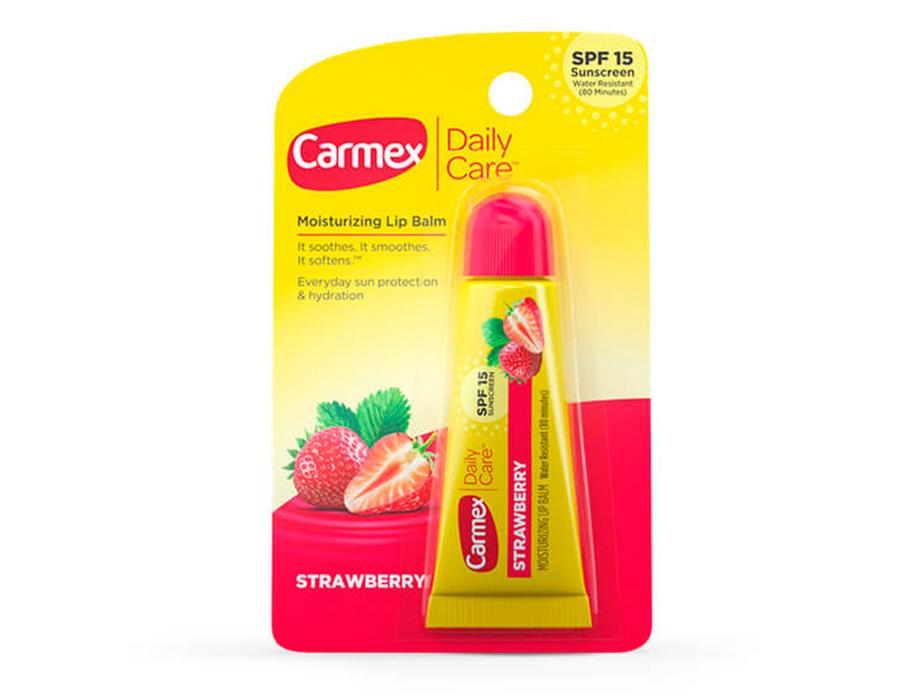 Бальзам для губ Клубника Carmex Strawberry Tube SPF 15, 10г - Фото №2