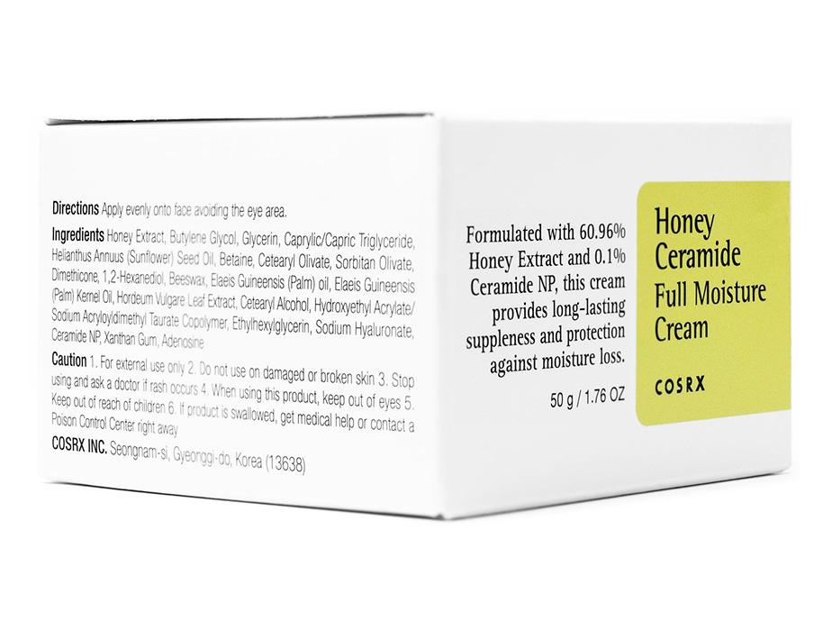 Интенсивно увлажняющий крем для лица с медом и керамидами Cosrx Honey Ceramide Full Moisture Cream, 50г - Фото №2