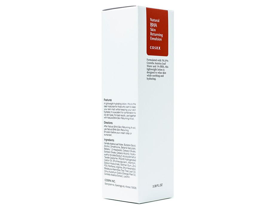 Эмульсия для проблемной кожи лица Cosrx Natural BHA Skin Returning Emulsion, 100мл (Срок годности до 09.04.2021) - Фото №2