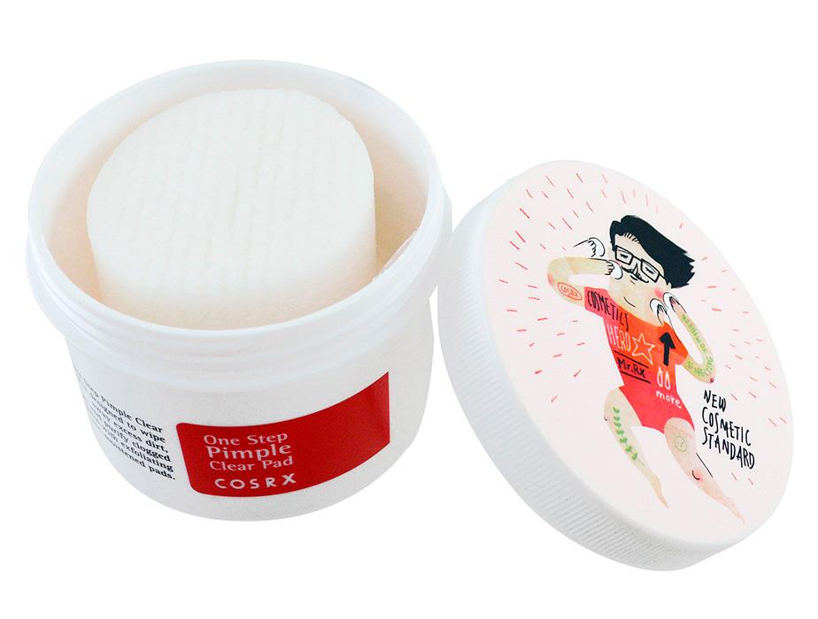 Спонж-диски для проблемной кожи с BHA-кислотами Cosrx One Step Original Clear Pad, 70шт - Фото №2