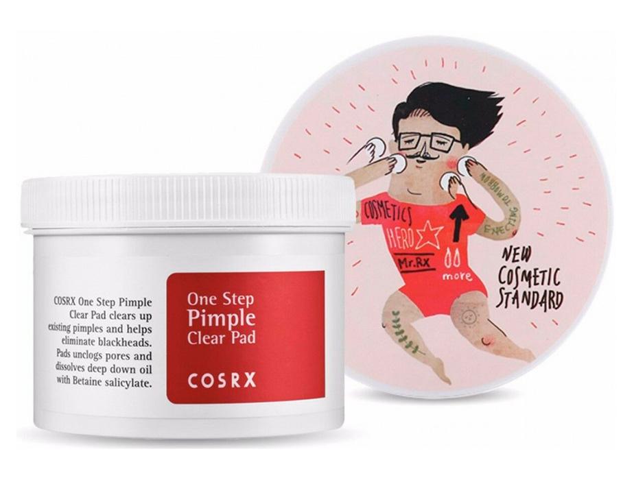 Спонж-диски для проблемной кожи с BHA-кислотами Cosrx One Step Original Clear Pad, 70шт - Фото №3