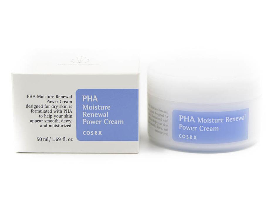 Восстанавливающий крем для увлаженения лица с PHA кислотами Cosrx PHA Moisture Renewal Power Cream, 50мл - Фото №2