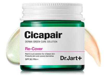 Регенерирующий СС крем-антистресс для коррекции цвета лица Dr. Jart+ Cicapair Re-Cover SPF 30, 50мл - Фото №1