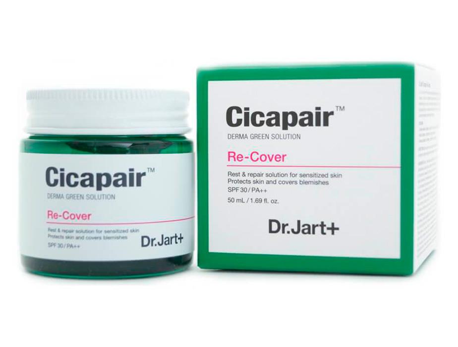Регенерирующий СС крем-антистресс для коррекции цвета лица Dr. Jart+ Cicapair Re-Cover SPF 30, 50мл - Фото №4