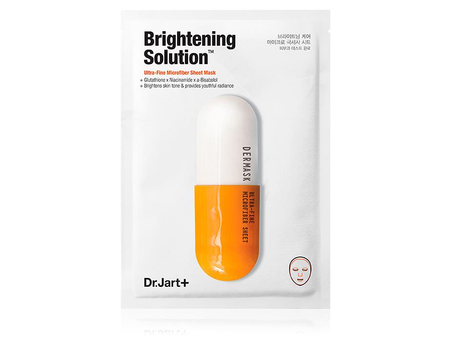 Придающая сияние маска для лица Dr. Jart+ Dermask Brightening Solution - Фото №1
