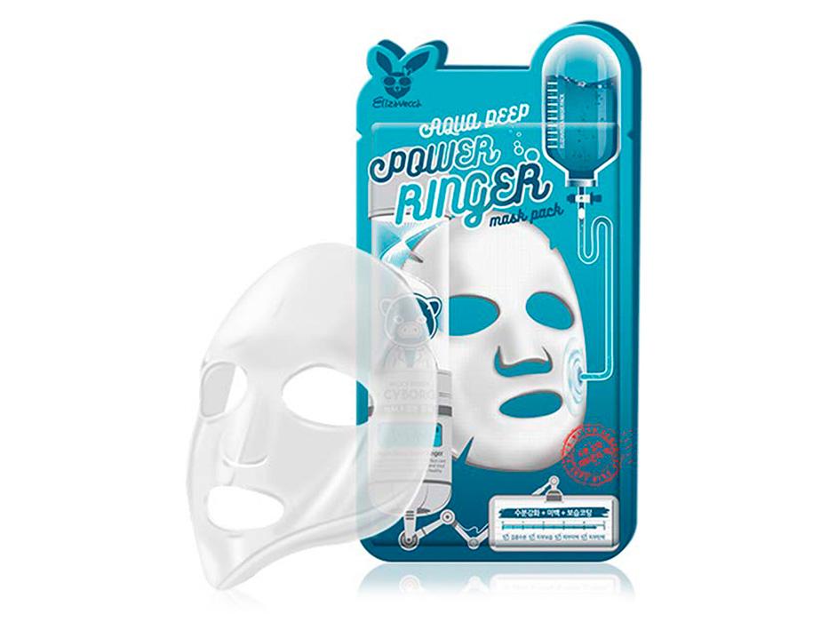Увлажняющая маска для лица Elizavecca Aqua Deep Power Ringer Mask