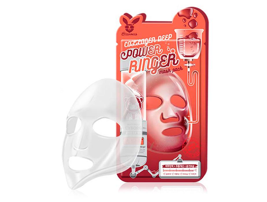 Коллагеновая маска для лица Elizavecca Collagen Deep Power Ringer Mask