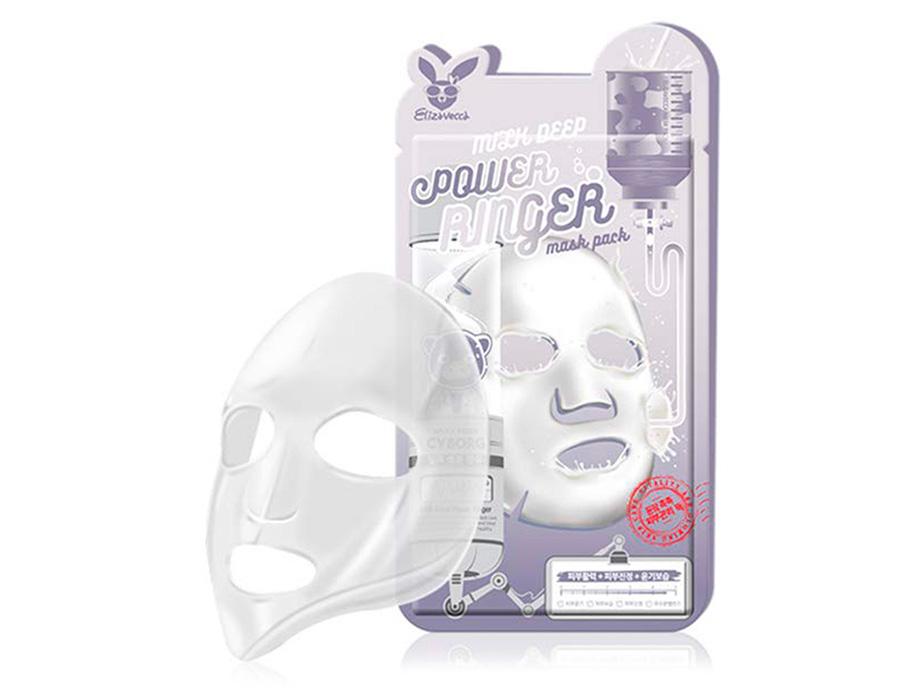 Маска для лица молочно-цветочная Elizavecca Milk Deep Power Ringer Mask