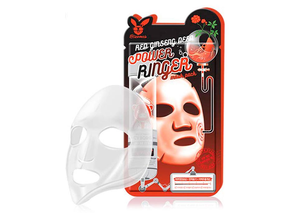 Омолаживающая маска для лица с женьшенем Elizavecca Red Ginseng Deep Power Ringer Mask