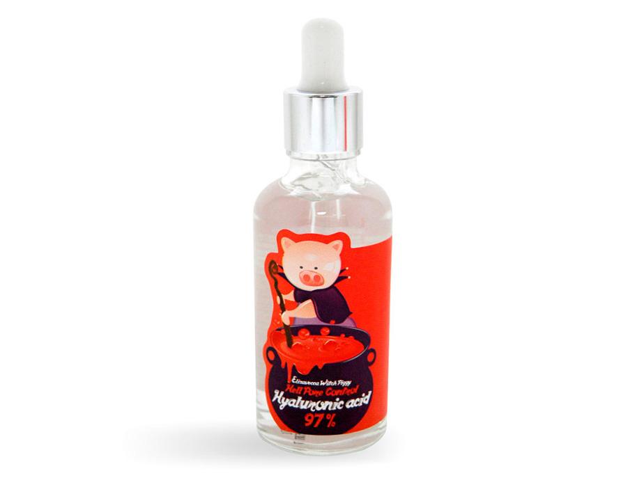 Увлажняющая гиалуроновая сыворотка Elizavecca Witch Piggy Hell Pore Control Hyaluronic Acid 97%, 50мл - Фото №2