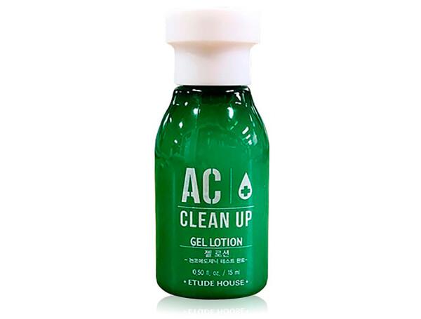 Лечебный гель-лосьон для проблемной кожи лица Etude House AC Clean Up Gel Lotion, 15мл - Фото №1