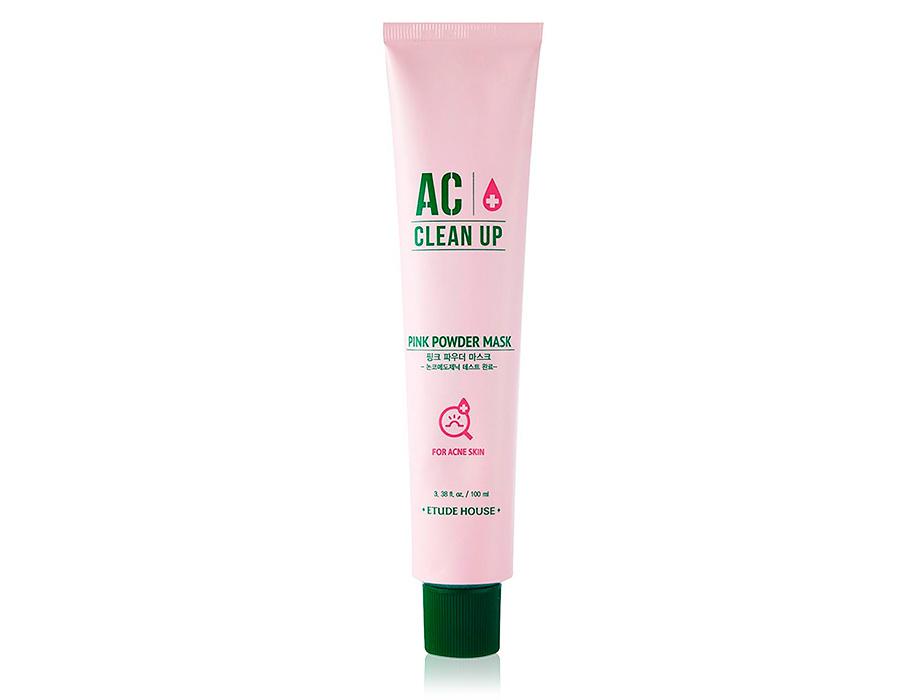 Успокаивающая маска для проблемной кожи лица Etude House AC Clean Up Pink Powder Mask, 100мл - Фото №1