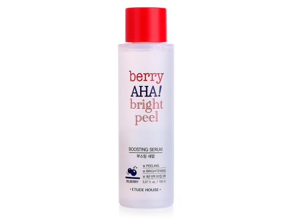 Пилинг сыворотка-бустер для лица с AHA кислотами Etude House Berry AHA Bright Peel Boosting Serum, 150мл - Фото №1