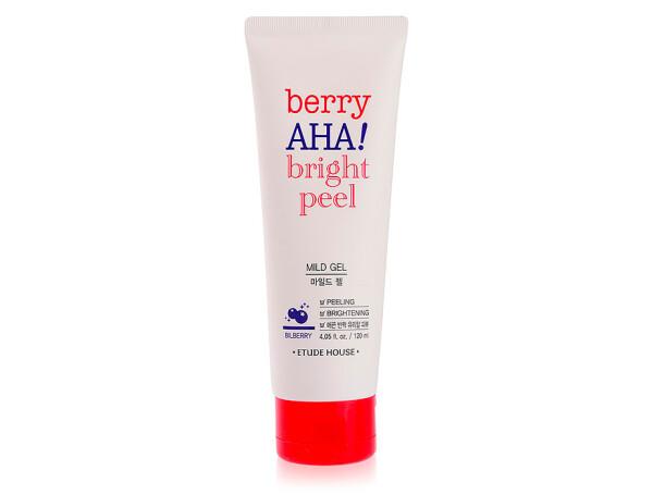 Мягкий пилинг-гель для лица с AHA кислотами Etude House Berry AHA Bright Peel Mild Gel,120мл - Фото №1