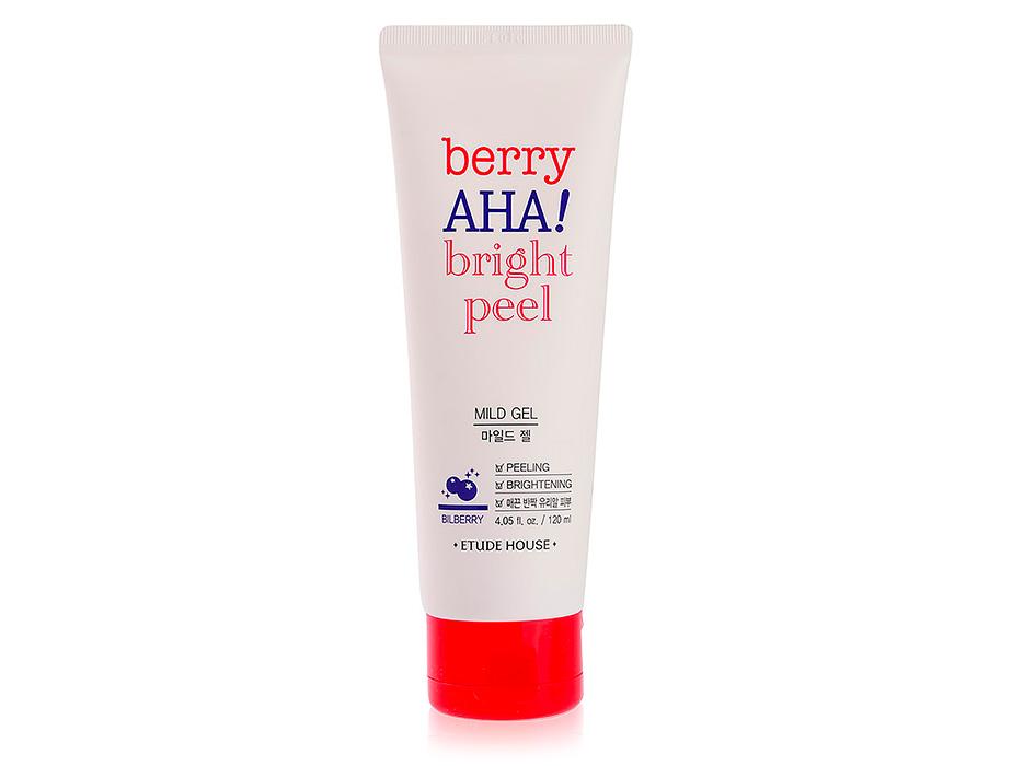 Мягкий пилинг-гель для лица с AHA кислотами Etude House Berry AHA Bright Peel Mild Gel,120мл