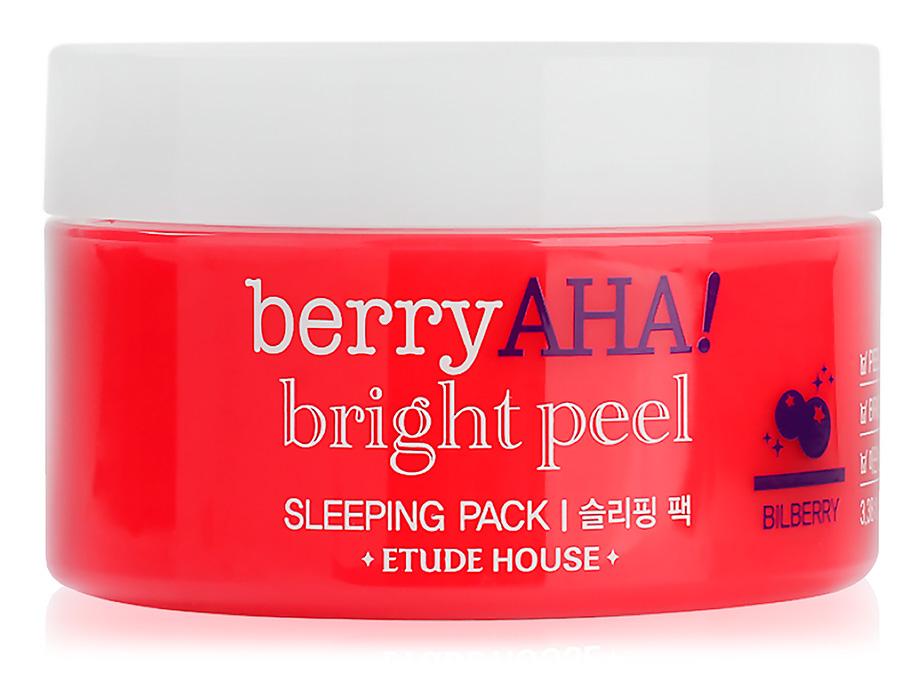 Ночная маска-пилинг для лица Etude House Berry AHA Bright Peel Sleeping Pack, 100мл