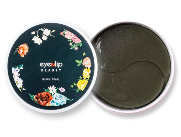 Гидрогелевые патчи под глаза с пудрой чёрного жемчуга Eyenlip Black Pearl Hydrogel Eye Patch, 60шт - Фото №1