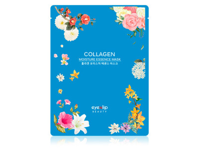 Увлажняющая маска для лица с коллагеном Eyenlip Collagen Moisture Essence Mask - Фото №1
