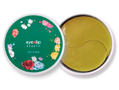 Гидрогелевые патчи под глаза с золотом и улиточным муцином Eyenlip Gold & Snail Hydrogel Eye Patch, 60шт - Фото №1
