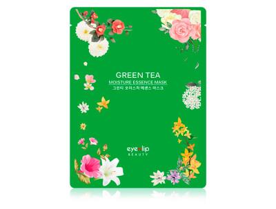 Увлажняющая маска для лица с зеленым чаем Eyenlip Green Tea Moisture Essence Mask - Фото №1