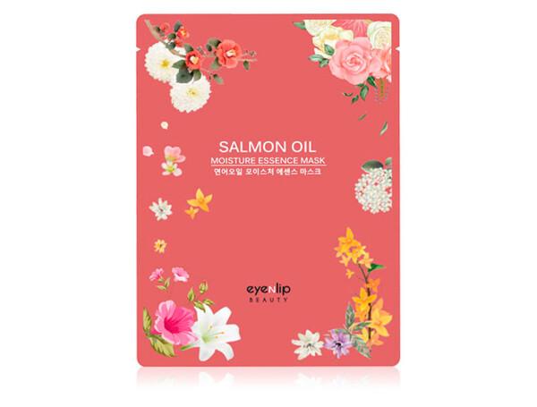 Увлажняющая маска для лица c лососевым маслом Eyenlip Salmon Oil Moisture Essence Mask - Фото №1