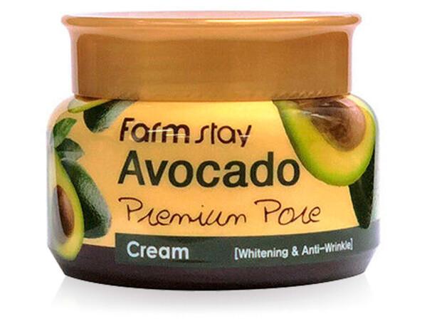 Осветляющий лифтинг-крем для лица с экстрактом авокадо FarmStay Avocado Premium Pore Cream, 100мл - Фото №1