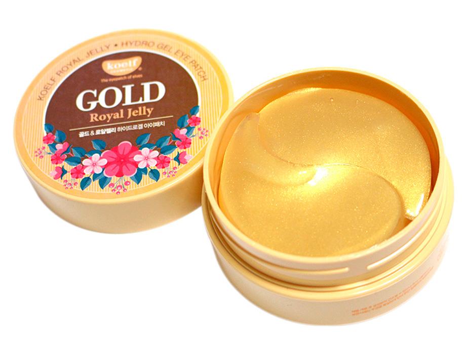 Гидрогелевые патчи под глаза с золотом и маточным молочком Koelf Gold & Royal Jelly Eye Patch, 60шт - Фото №2