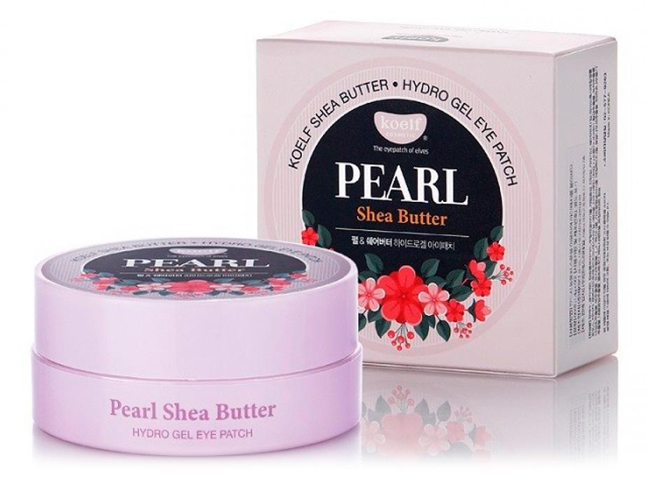 Гидрогелевые патчи под глаза с жемчугом и маслом Ши Koelf Pearl & Shea Butter Eye Patch, 60шт - Фото №4