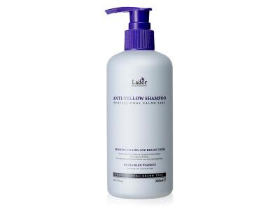 Шампунь для устранения желтизны осветленных волос Lador Anti-Yellow Shampoo, 300мл - Фото №1