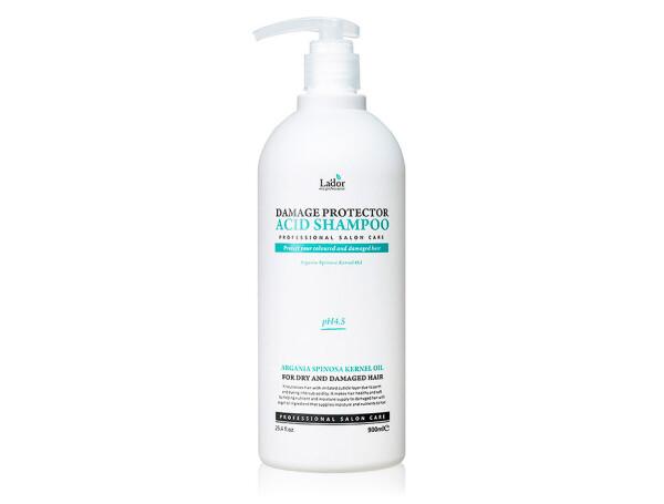 Бесщелочной шампунь для волос Lador Damage Protector Acid Shampoo, 900мл - Фото №1