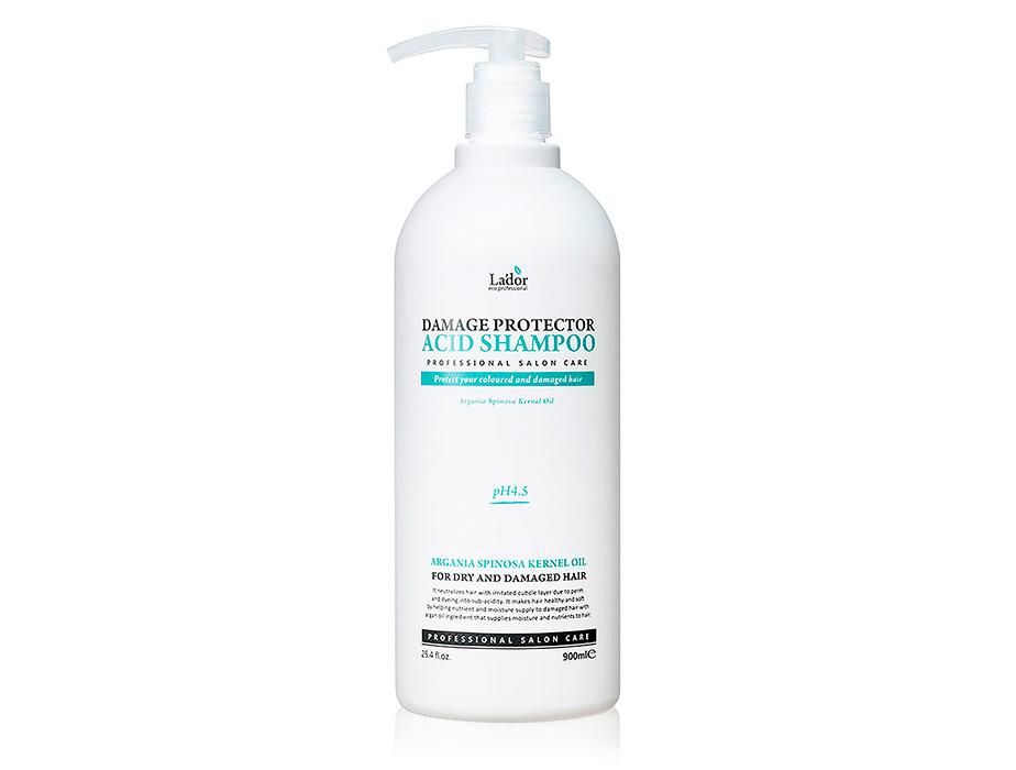 Бесщелочной шампунь для волос Lador Damage Protector Acid Shampoo, 900мл