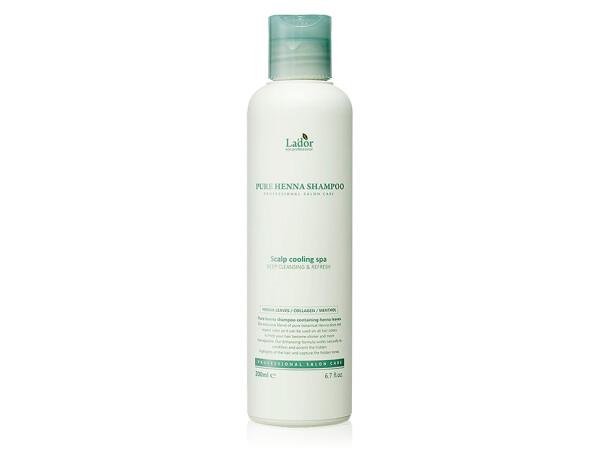 Шампунь с хной против выпадения волос Lador Pure Henna Shampoo, 200мл - Фото №1