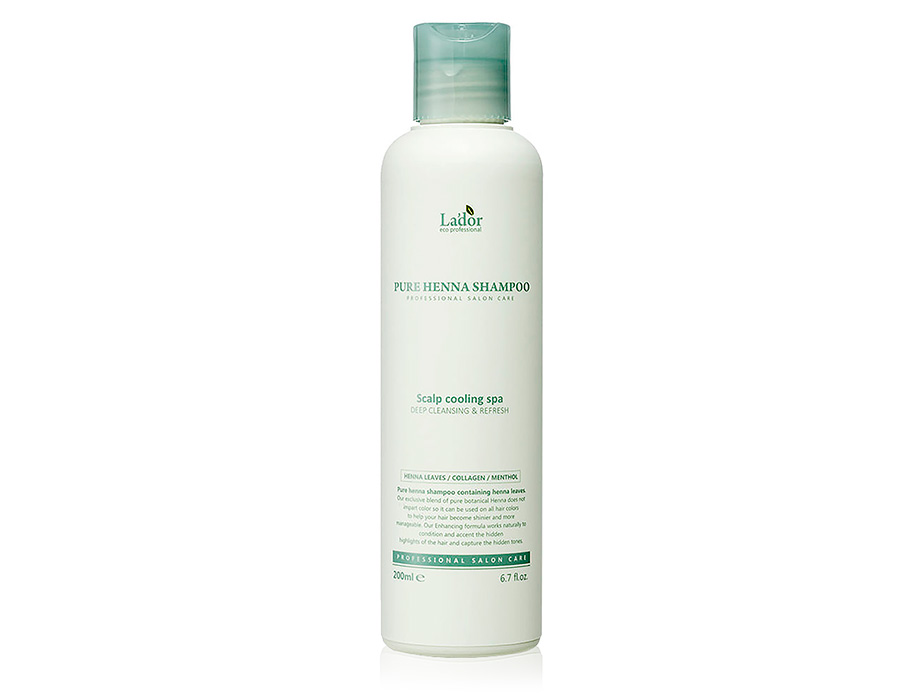 Шампунь с хной против выпадения волос Lador Pure Henna Shampoo, 200мл