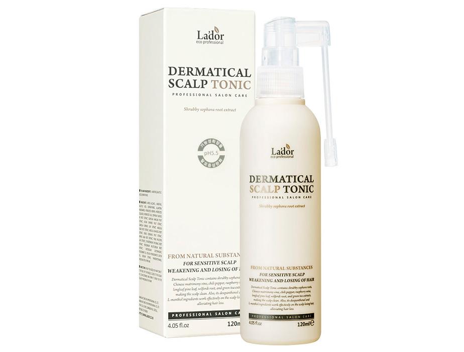 Тоник-спрей для роста и восстановления волос Lador Dermatical Scalp Tonic, 120мл - Фото №2