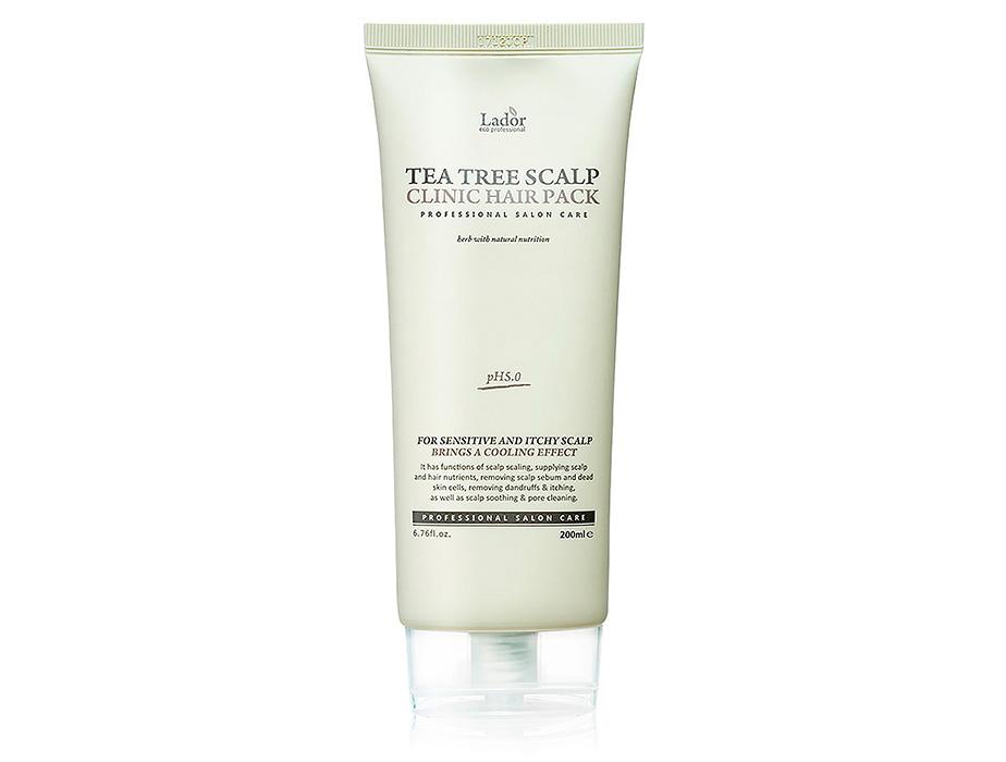 Очищающая маска-пилинг для волос и кожи головы Lador Tea Tree Scalp Clinic Hair Pack, 200мл