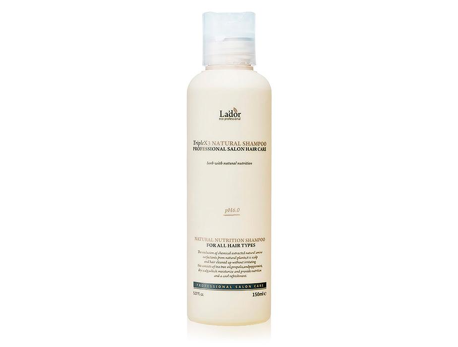 Органический шампунь с растительными экстрактами Lador Triplex Natural Shampoo, 150мл