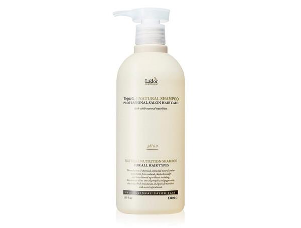 Органический шампунь с растительными экстрактами Lador Triplex Natural Shampoo, 530мл - Фото №1