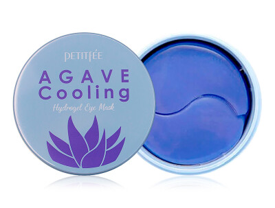Гидрогелевые патчи под глаза с экстрактом агавы и черники Petitfee Agave Cooling Hydrogel Eye Mask, 60шт - Фото №1