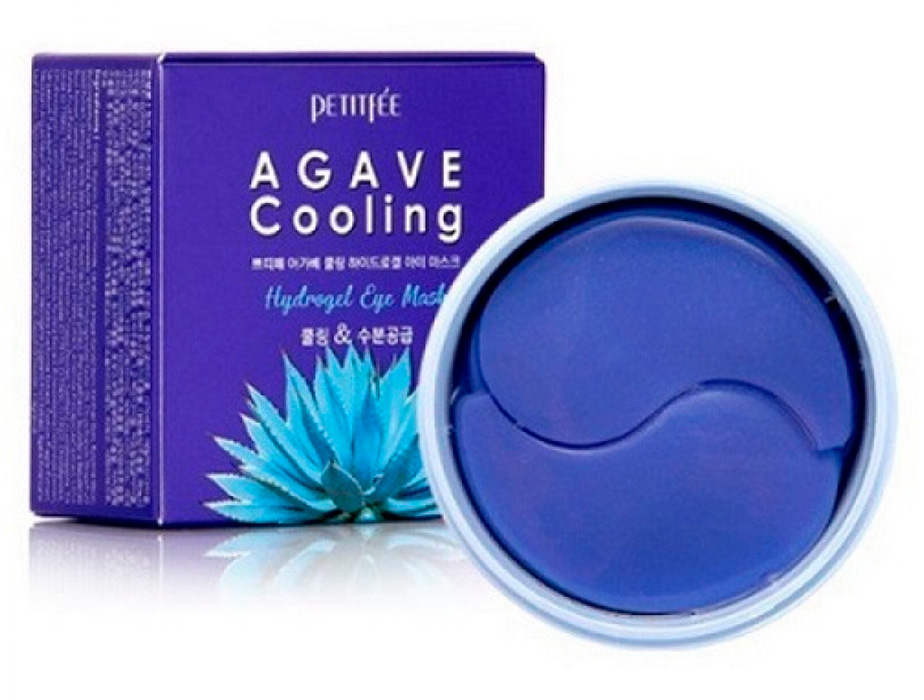 Гидрогелевые патчи под глаза с экстрактом агавы и черники Petitfee Agave Cooling Hydrogel Eye Mask, 60шт - Фото №2