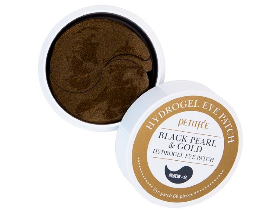 Гидрогелевые патчи под глаза с черным жемчугом и золотом Petitfee Black Pearl & Gold Hydrogel Eye Patch, 60шт - Фото №2