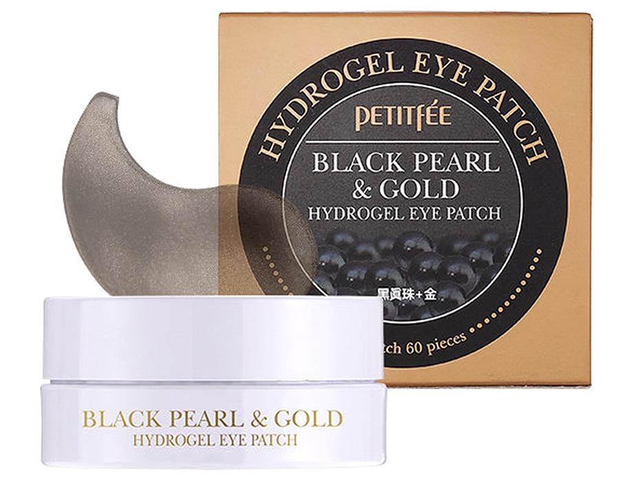 Гидрогелевые патчи под глаза с черным жемчугом и золотом Petitfee Black Pearl & Gold Hydrogel Eye Patch, 60шт - Фото №4