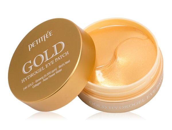 Гидрогелевые патчи под глаза с золотым комплексом +5 Petitfee Gold Hydrogel Eye Patch, 60шт - Фото №1