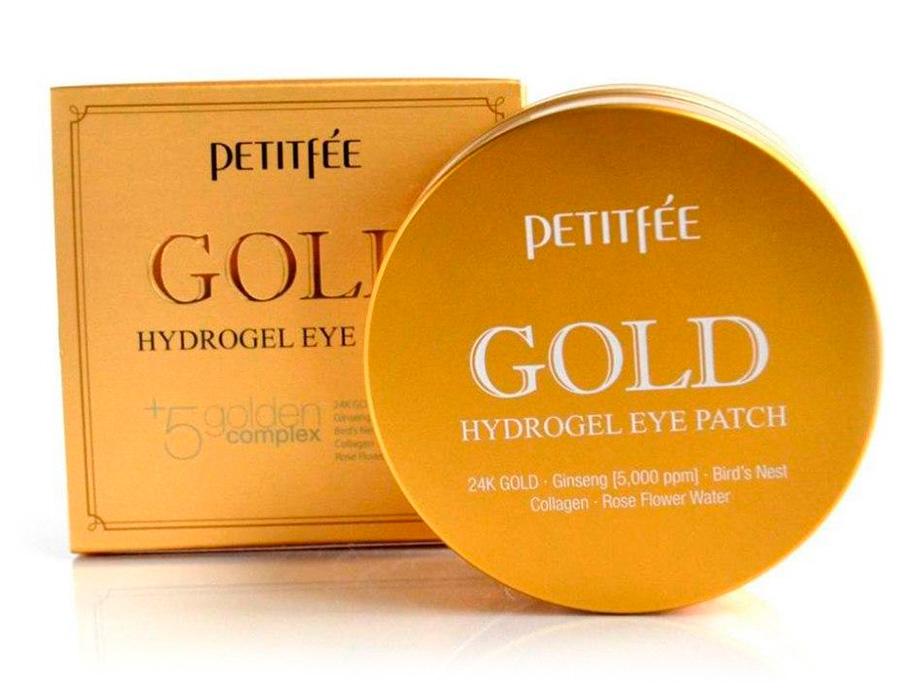 Гидрогелевые патчи под глаза с золотым комплексом +5 Petitfee Gold Hydrogel Eye Patch, 60шт - Фото №4