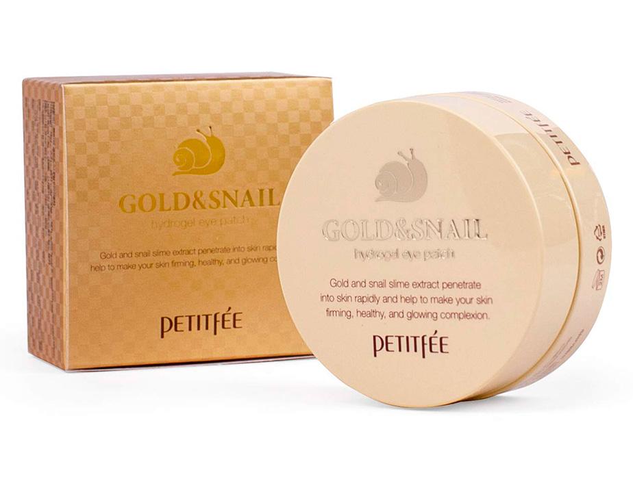 Гидрогелевые патчи под глаза с золотом и улиточным муцином Petitfee Gold & Snail Hydrogel Eye Patch, 60шт - Фото №4