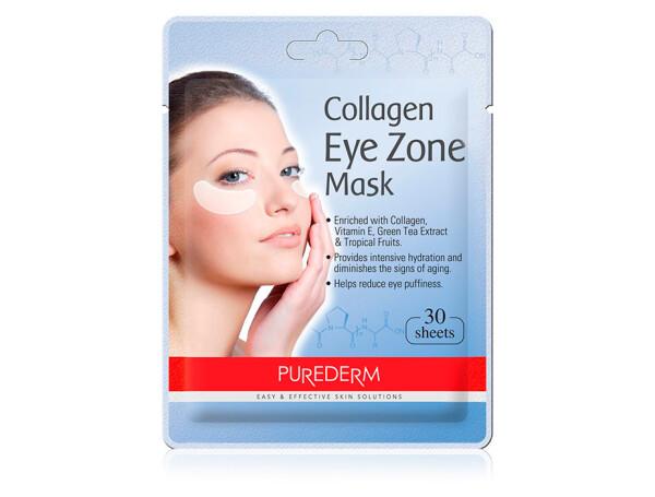 Коллагеновые патчи под глаза Purederm Collagen Eye Zone Mask, 30шт - Фото №1