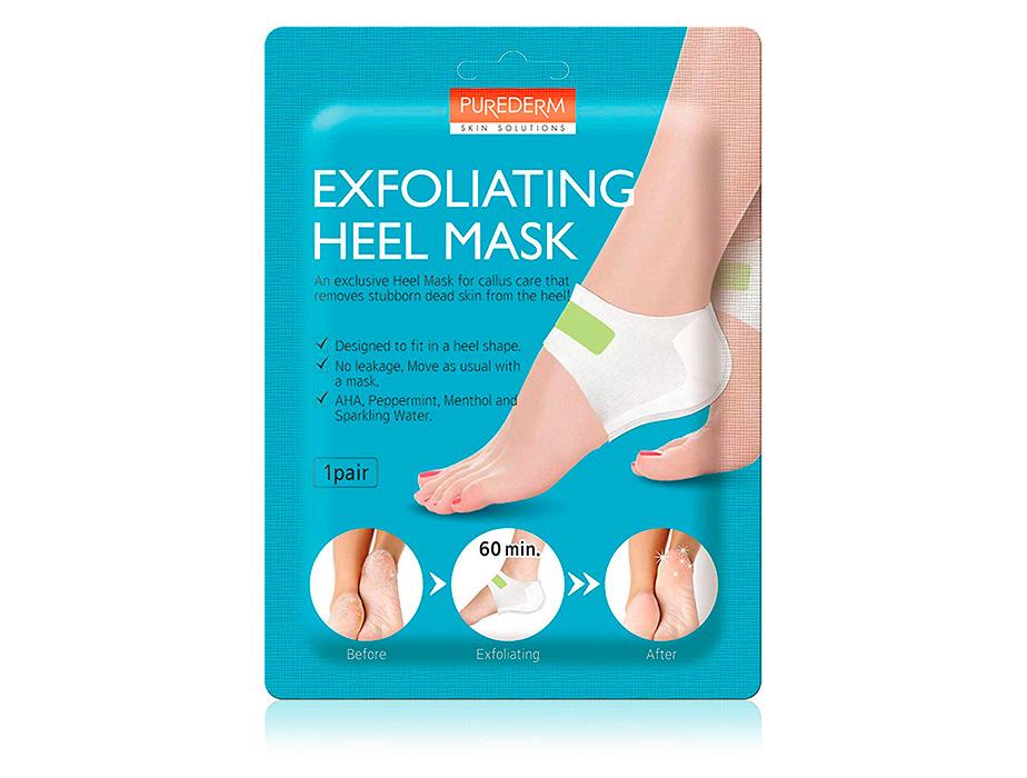 Очищающая маска для пяток Purederm Exfoliating Heel Mask