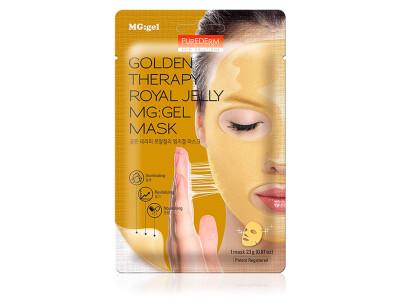 Гидрогелевая маска для лица с маточным молочком и золотом Purederm Golden Therapy Royal Jelly MG:Gel Mask - Фото №1