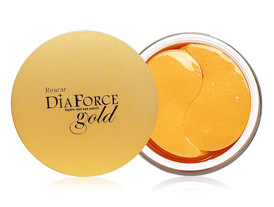 Большие гидрогелевые патчи под глаза с коллоидным золотом Rearar Dia Force Hydro-Gel Eye Patch Gold, 60шт - Фото №1