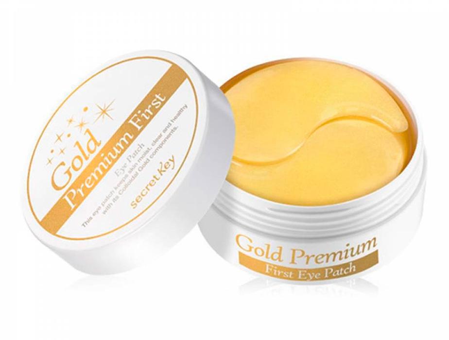 Гидрогелевые патчи под глаза с коллоидным золотом Secret Key Gold Premium First Eye Patch, 60шт - Фото №1
